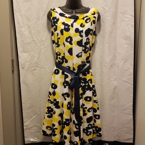 Beautiful Yellow/Blue/White flowy Dress